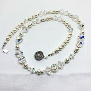 🆕Pearl & Vintage Aurora Crystal Necklace